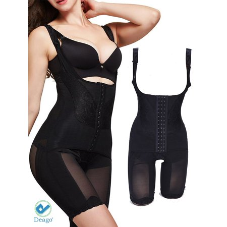 Deago Women Body Shaper Slimming Waist Trainer Cincher Tummy Control Underbust Corset Bodysuit Shapewear Set