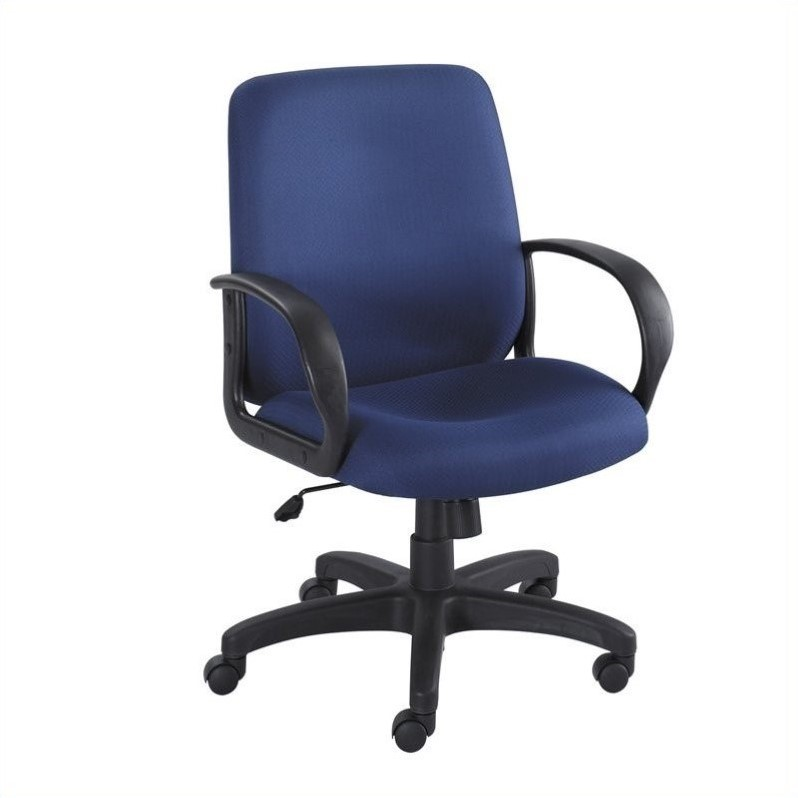 Safco Poise Blue Executive Mid-Back Office Chair - image 2 of 2