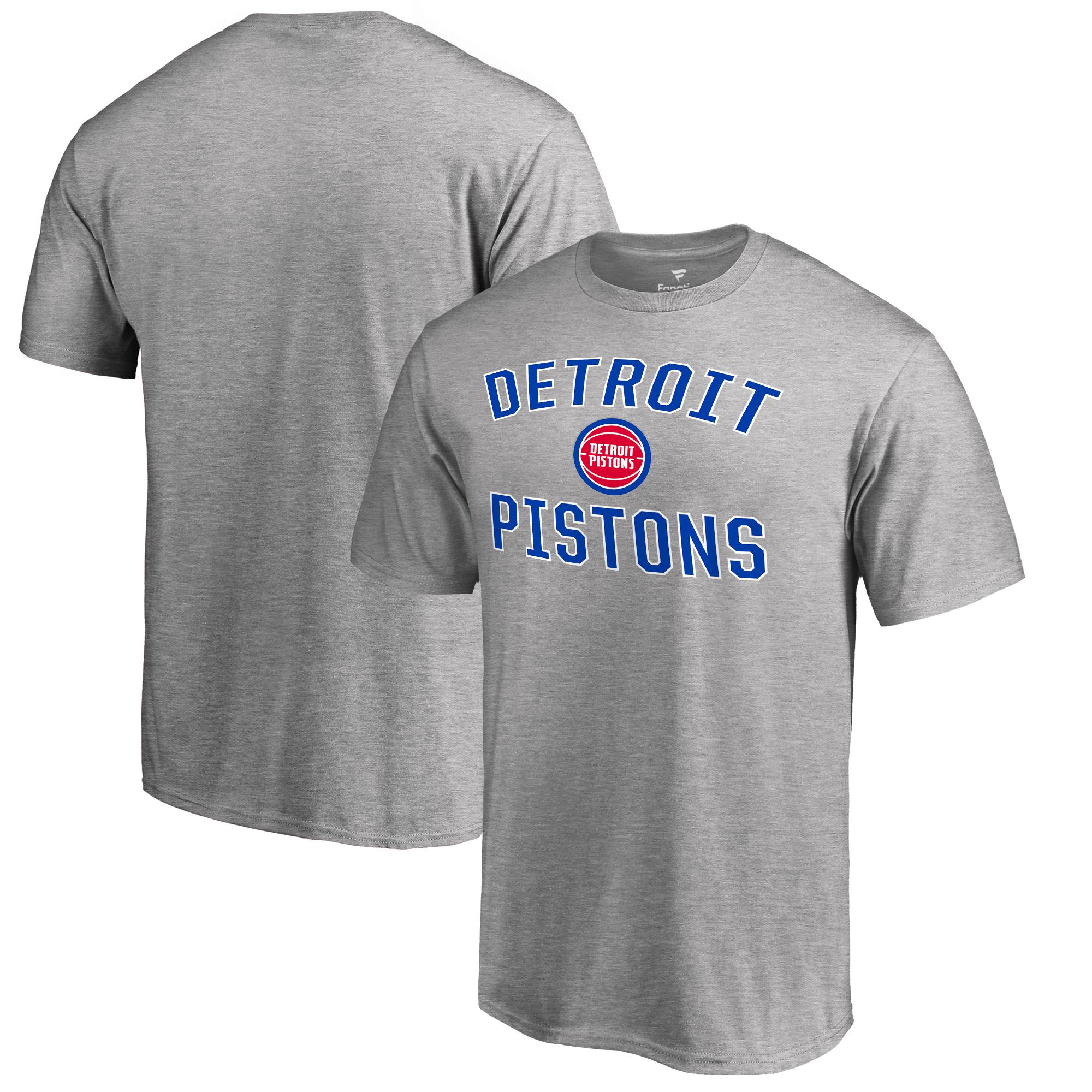Detroit Pistons Big & Tall Victory Arch T-Shirt - Ash