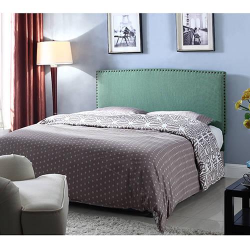 Best Master Furniture Upholstered Platform Headboard, Pistachio Twin