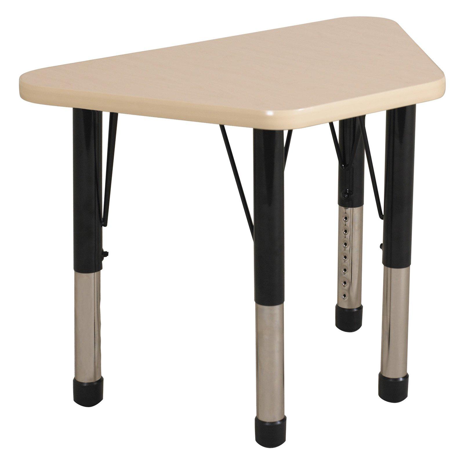 ECR4Kids 30'' x 18'' Trapezoidal Classroom Table