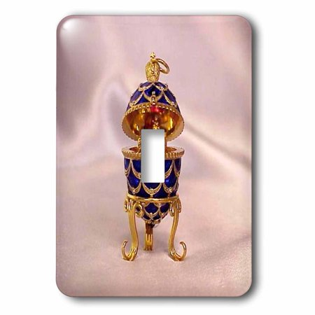 3dRose Picturing Pinecone Faberge® Egg - Single Toggle Switch (lsp_3148_1)