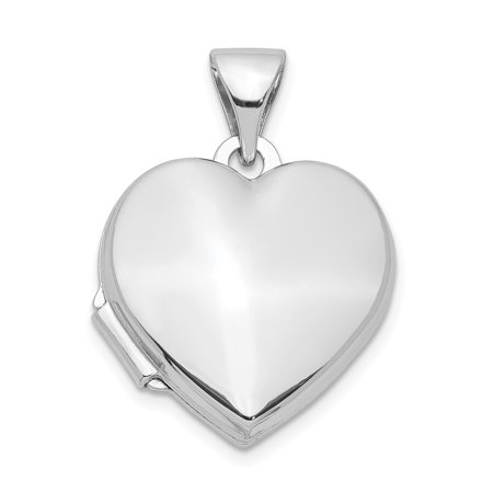 Sterling 925 Charm Pendant - 925 Sterling Silver 15mm Heart Photo Pendant Charm Locket Chain Necklace That Holds Pictures For Women