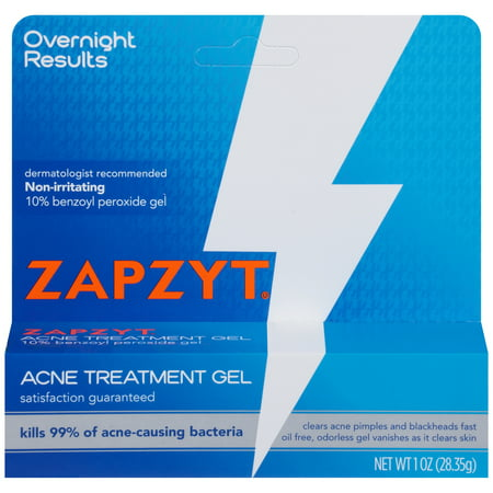 Zapzyt Acne Treatment Gel 1 Oz Best Oil Blemish Control