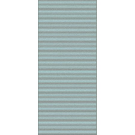 2.5' x 10' Solitary Sand Teal and Seafoam Green Rectangular Hand Knotted Wool Area Throw Rug Runner (Hand Knotted Sand)