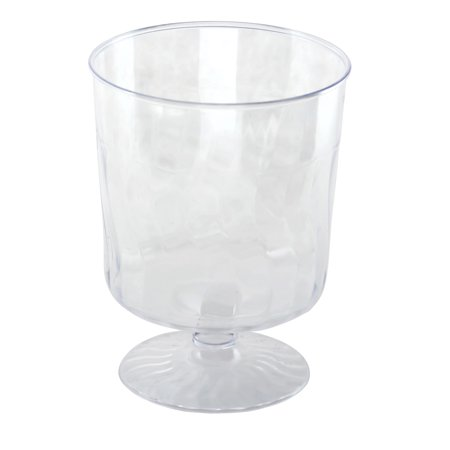 Oversized Wine Glass Centerpiece (Kaya Collection - Disposable Plastic Clear 8oz Wine Glasses Crystal-Like Design (20)