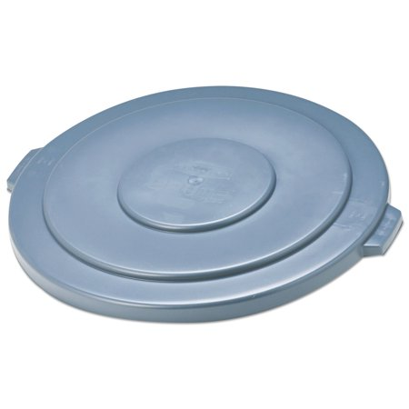 Rubbermaid Commercial Round Flat Top Lid, for 55-Gallon Round Brute Containers, 26 3/4