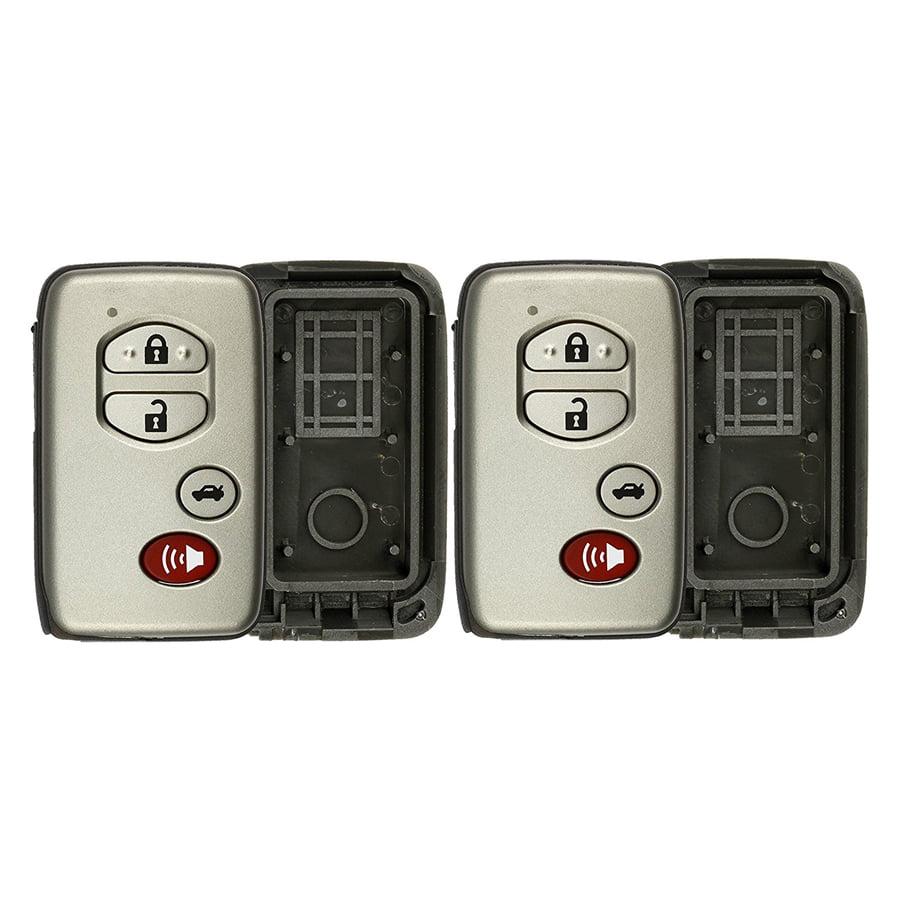 Pack of 2 KeylessOption Just the Case Keyless Entry Remote Key Fob Shell