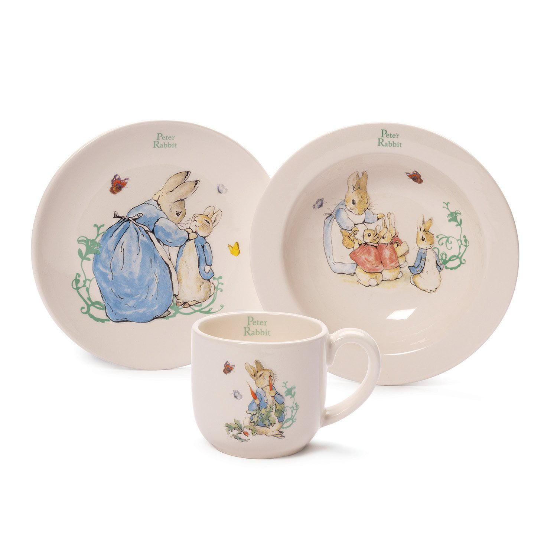 Gund Classic Beatrix Potter 3-Cup and Dish Set, Multi, No...
