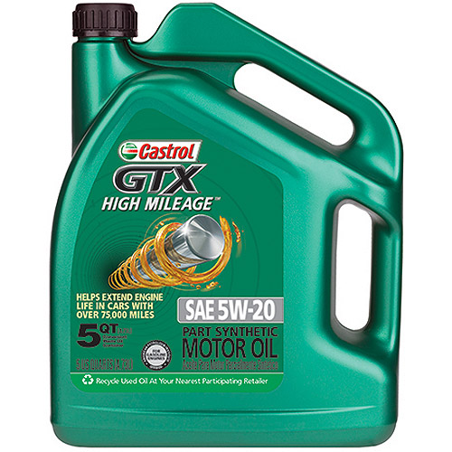 Castrol GTX 5W-20  High-Mileage Motor Oil, 5 qt.