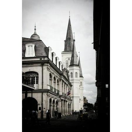 Canvas Print French Quarter Church New Orleans Stretched Canvas 10 x - New Orleans Halloween French Quarter