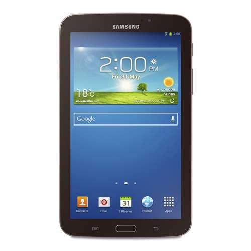 "Samsung Galaxy Tab 3 Internet Tablet - Android 4.1.2 OS, 7"" Touchscreen, 1.2GHz Dual Core, 8GB Storage, MicroSD Slot, Bl"