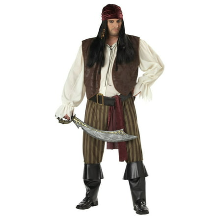 Adult Plus Size Rogue Pirate - Plus Size Halloween Costumes Pirate