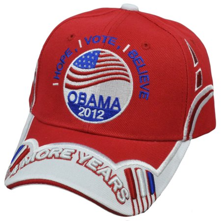 President Barack Obama 2012 Vote Hope 4 More Years Yes We Can Democrat Hat Cap