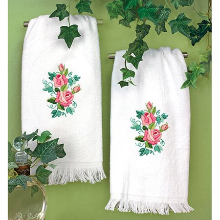 - Dimensions Roses and Ivy Guest Towels Stamped Embroidery, 16