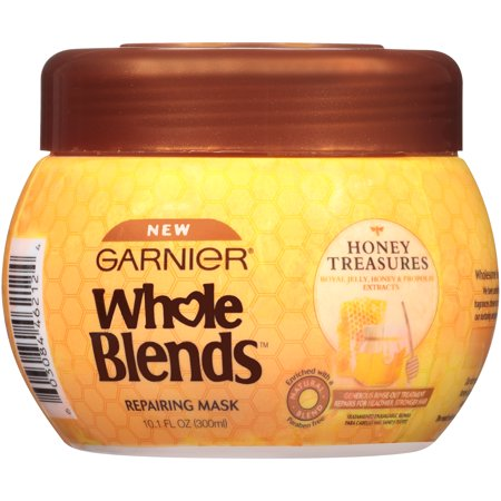 Garnier Whole Blends Repairing Hair Mask Honey Treasures, For Damaged Hair, 10.1 fl. (Best Hair Mask For Dry Hair Uk)