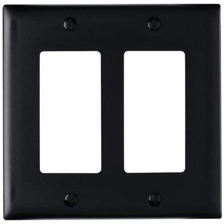 On-Q/Legrand Decorator Wallplate, 2-Gang, Black - image 1 of 1