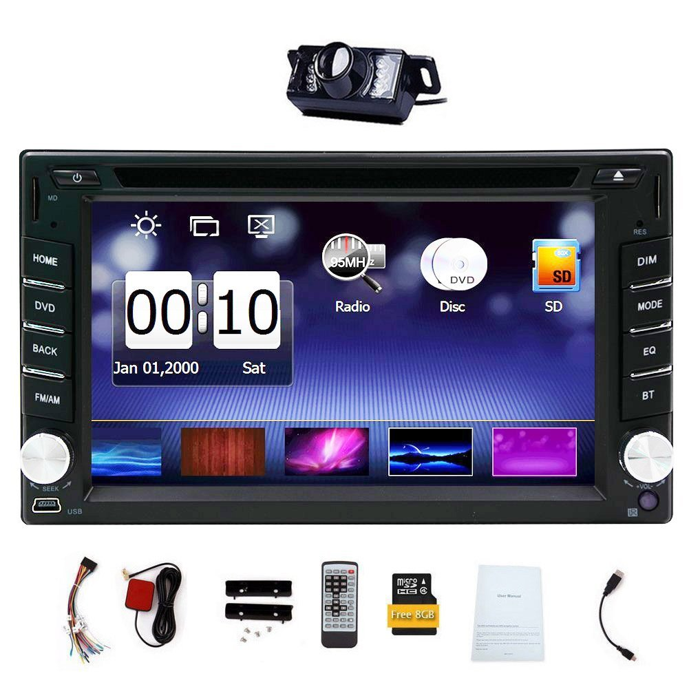 Upgarde Version With Camera 6 2 Double 2 Din Car Dvd Cd Video