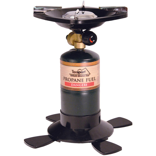 Texsport Single Burner Propane Camp Stove, Uses 16.4 or 14.1 oz