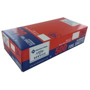 """Foil Sheets (12"""" x 10.75"""", 500ct.), Aluminum foil sheets 500 count By Daily Chef"""