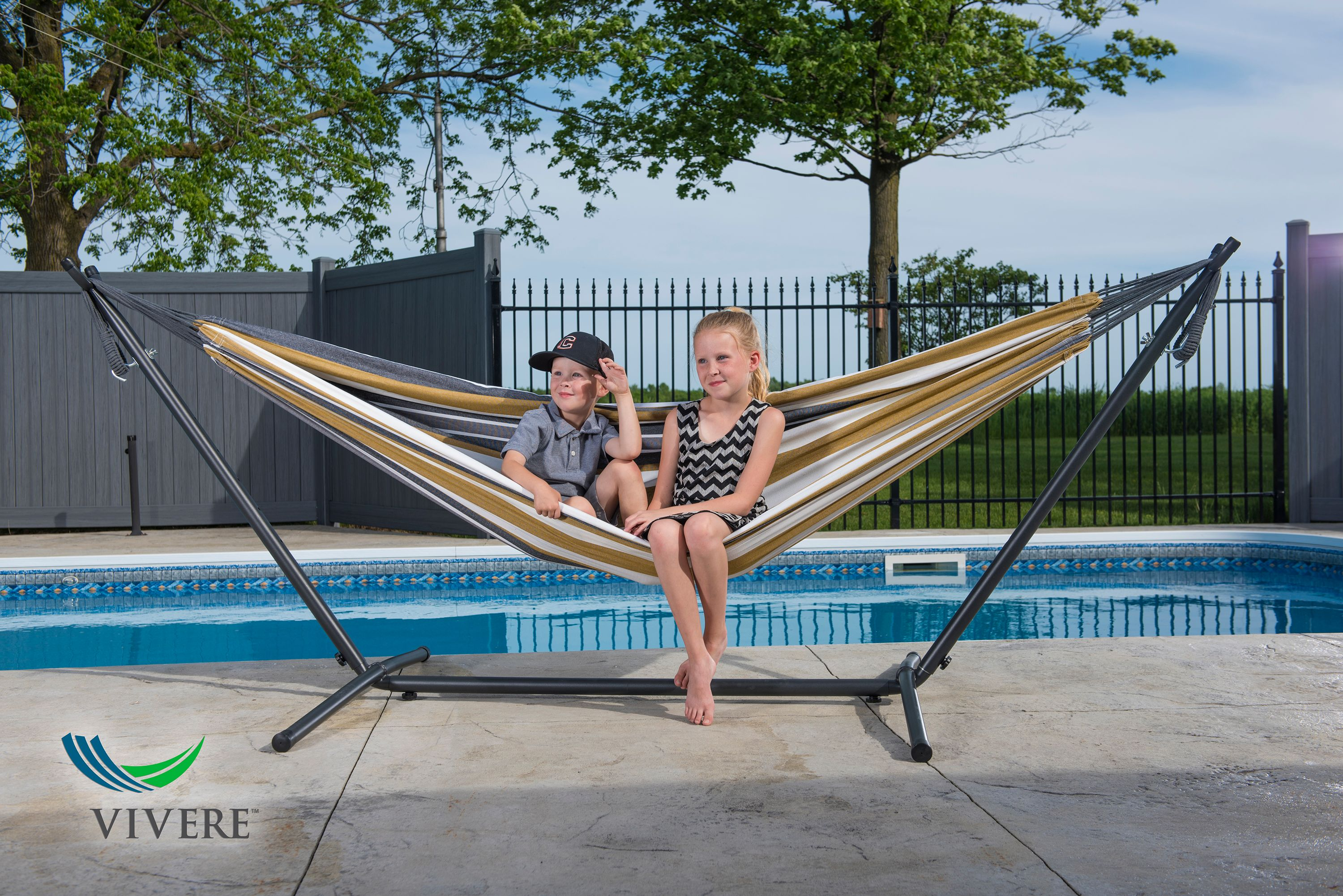 hammock stand double moon oasis chair combo with fabric hammocks desert costco vivere review
