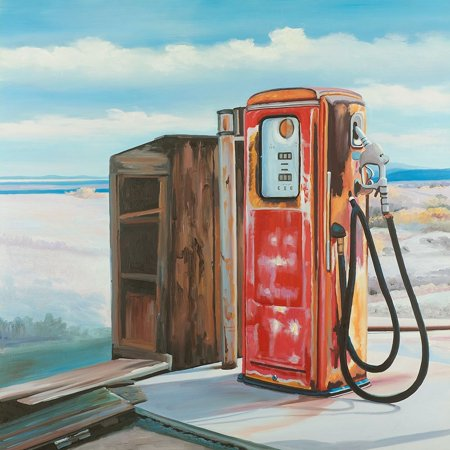 OLD GAS PUMP Poster Print by Atelier B Art Studio