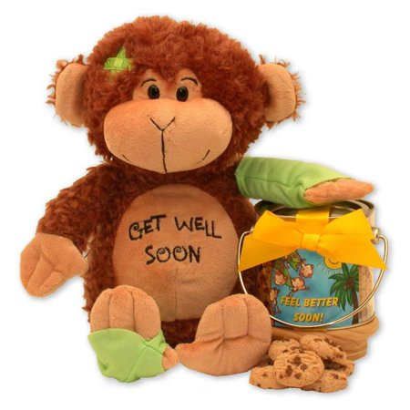 Gift Basket Drop Shipping Friend On The Mend Monkey And Cookie Pail