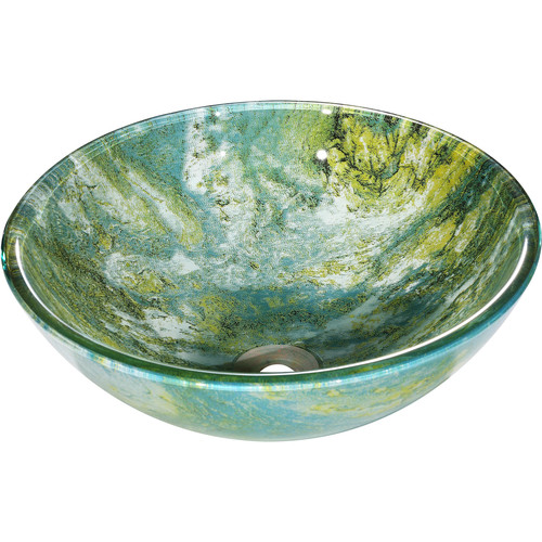 Y Decor Gourmand Circular Vessel Bathroom Sink