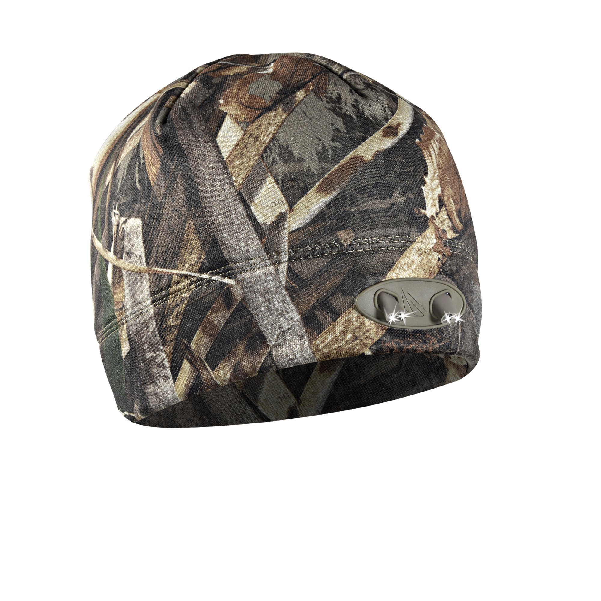 Powercap 3555 Compression Fleece Hunting Beanie Hat with LED lights, Max5 by Panther Vision