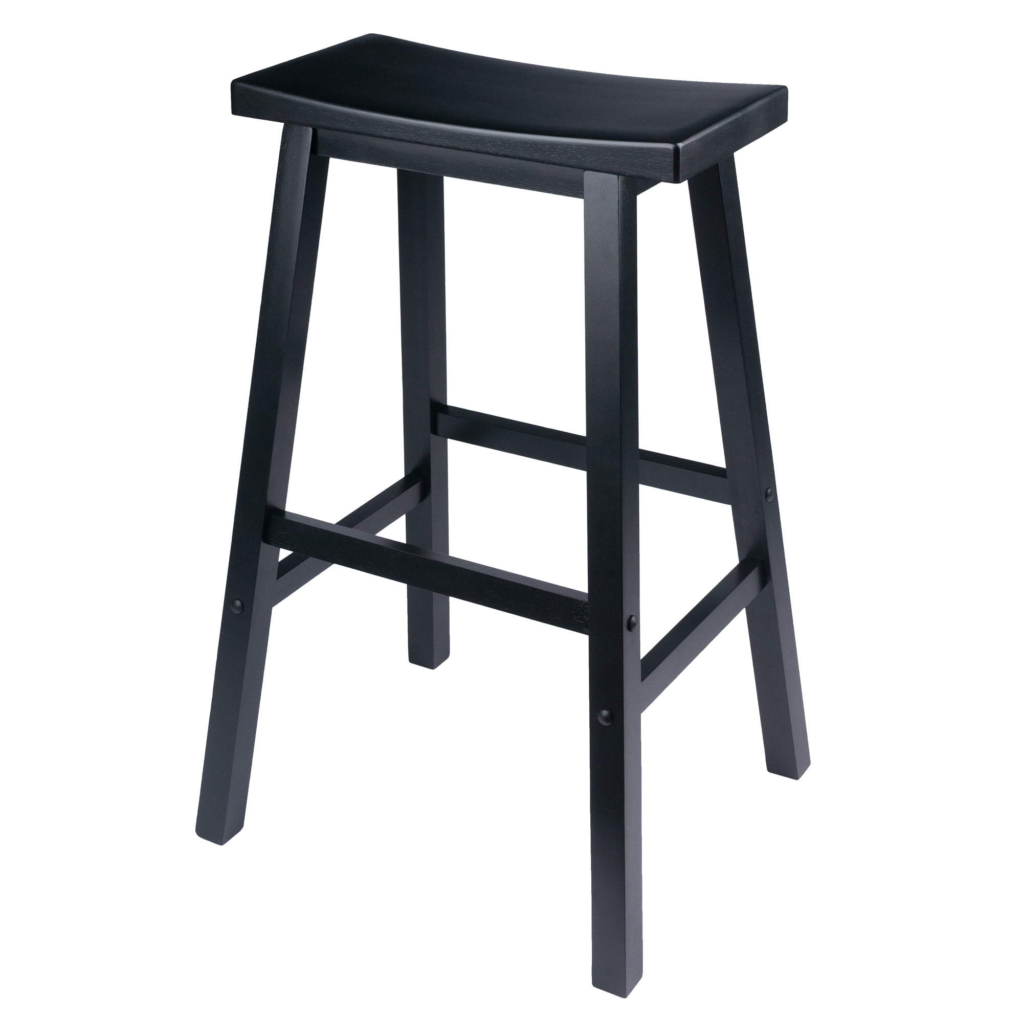 Surprising Winsome Wood Satori Saddle Seat Bar Stool 29 Black Uwap Interior Chair Design Uwaporg