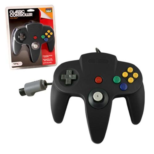 Wired Controller For Nintendo 64 System Black