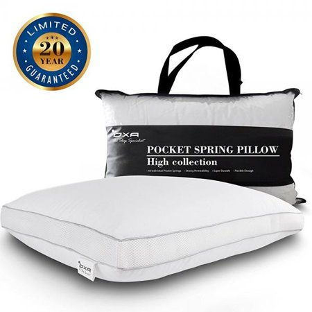 oxa spring bed pillows newest, breathable, neck and back pain-relieving sleeping pillow with 40 separate pocket springs (Separate Pocket)