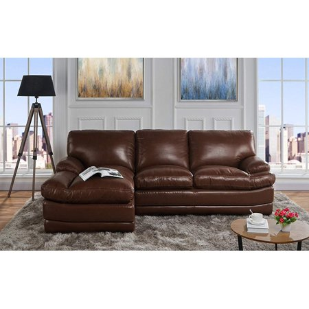 leather match sectional sofa, l-shape couch with chaise ...