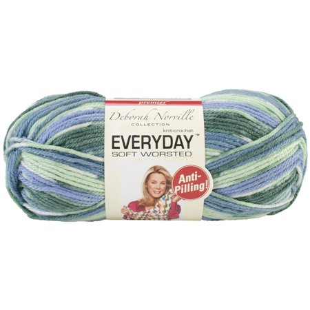 Deborah Norville Collection Everyday Soft Worsted Prints Yarn: Pond, ED200-19 By Premier (Premier Collection Anchor)