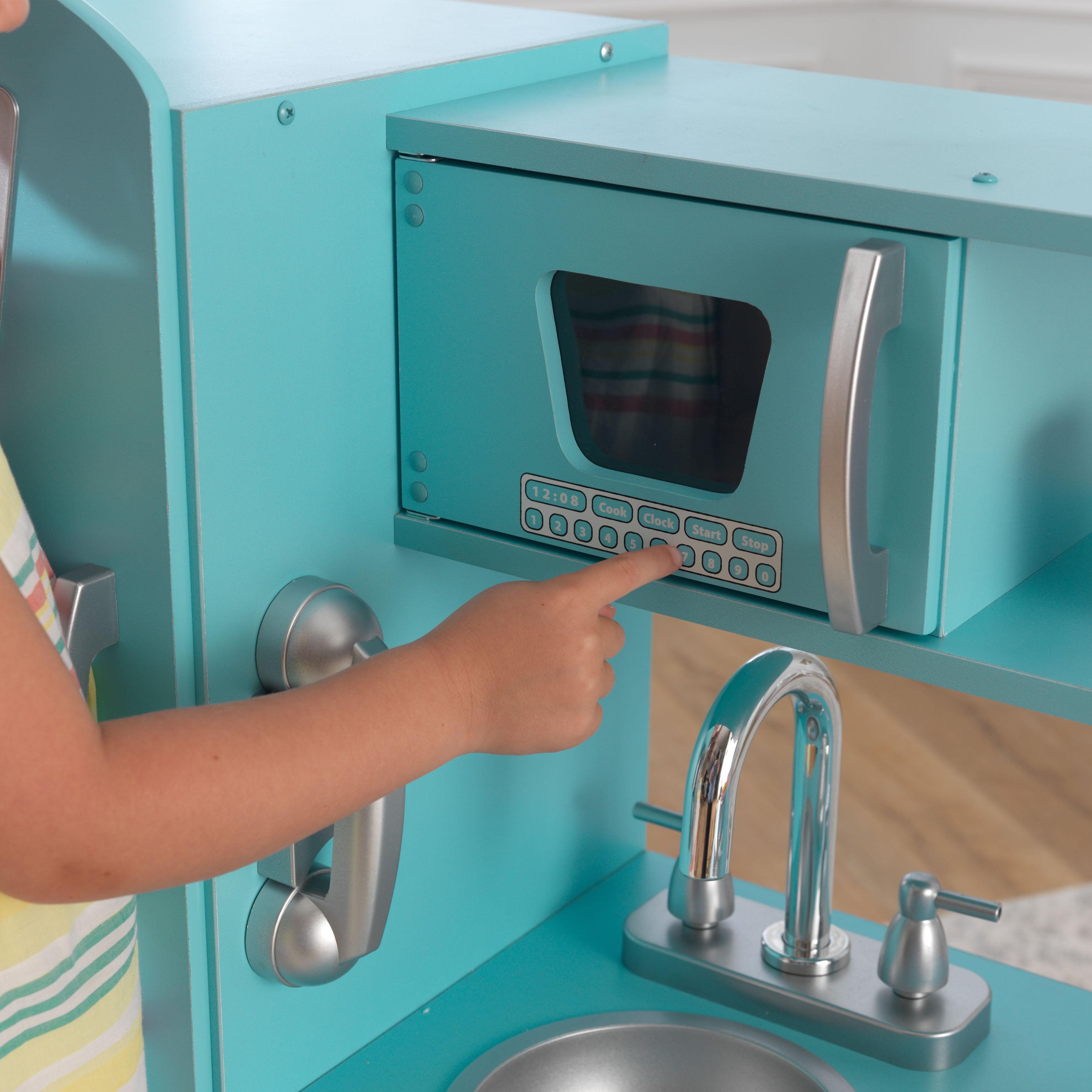 Kidkraft Retro Kitchen Blue kidkraft vintage play kitchen - blue - walmart