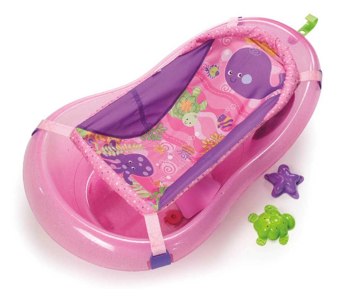 Fisher-Price Pink Sparkles Tub, One Size, Grows with baby By ...