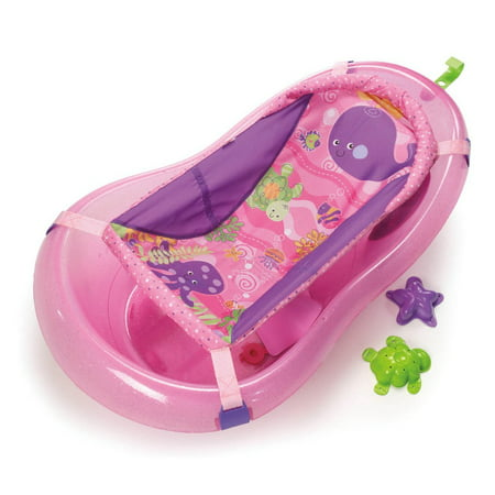 Fisher-Price Pink Sparkles Tub, One Size, Grows with baby By FisherPrice Ship from US (Fisher Price Baby Safety Items)