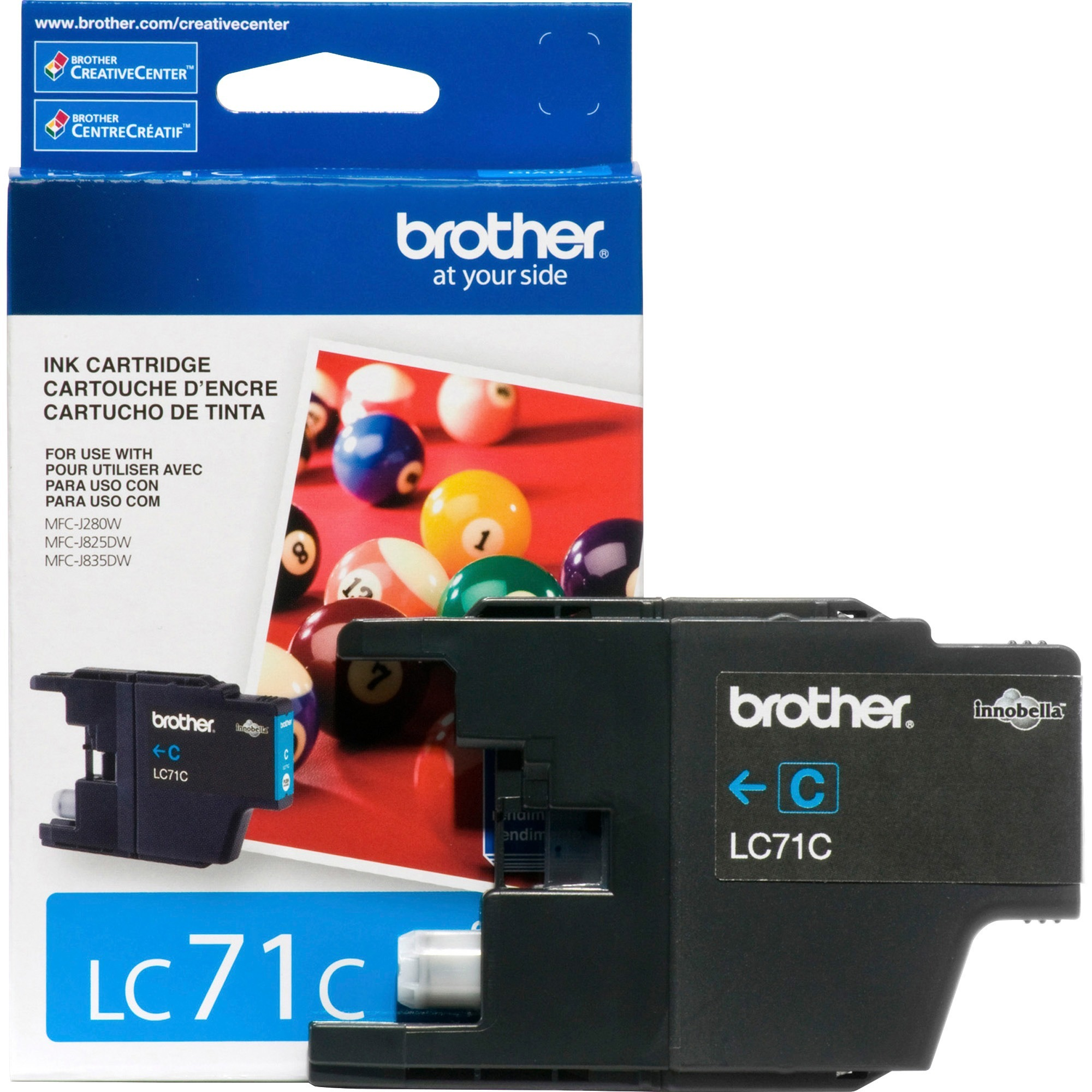 Brother LC71C Cyan Ink Cartridge (300 Yield)