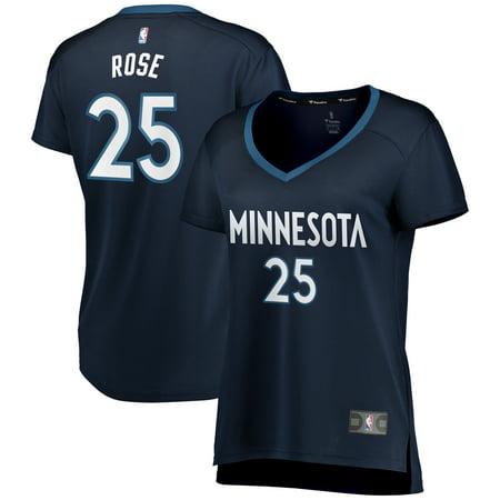 new product 6ff3a 14e2f Derrick Rose Minnesota Timberwolves Fanatics Branded Women's Fast Break  Replica Jersey - Icon Edition - Navy
