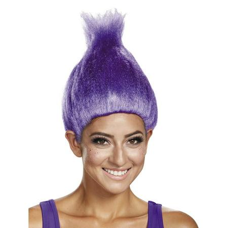 Trolls Purple Adult Wig
