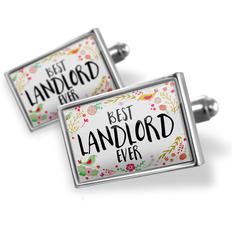 Cufflinks Happy Floral Border Landlord - NEONBLOND