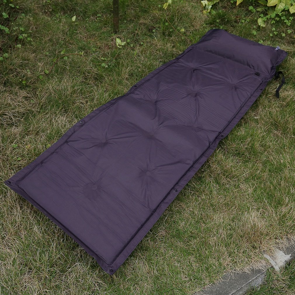 Outdoor Camping Folding Self Inflating Air Mat Hiking Damp Proof Sleeping Bed
