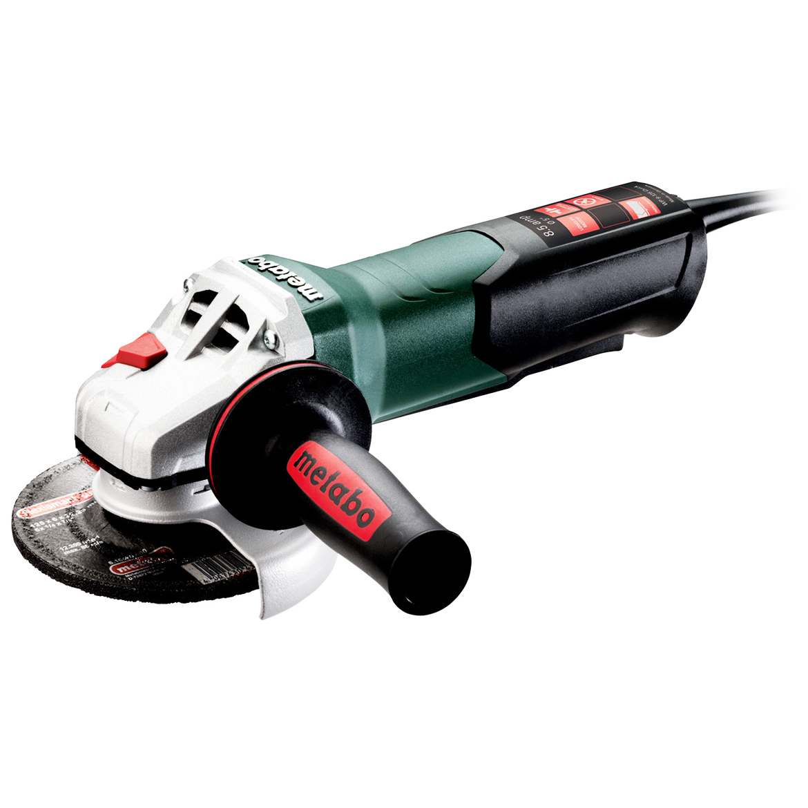 Metabo 600384420 5-Inch 8.5-Amp 10,500 RPM Angle Grinder with Non-lock Paddle