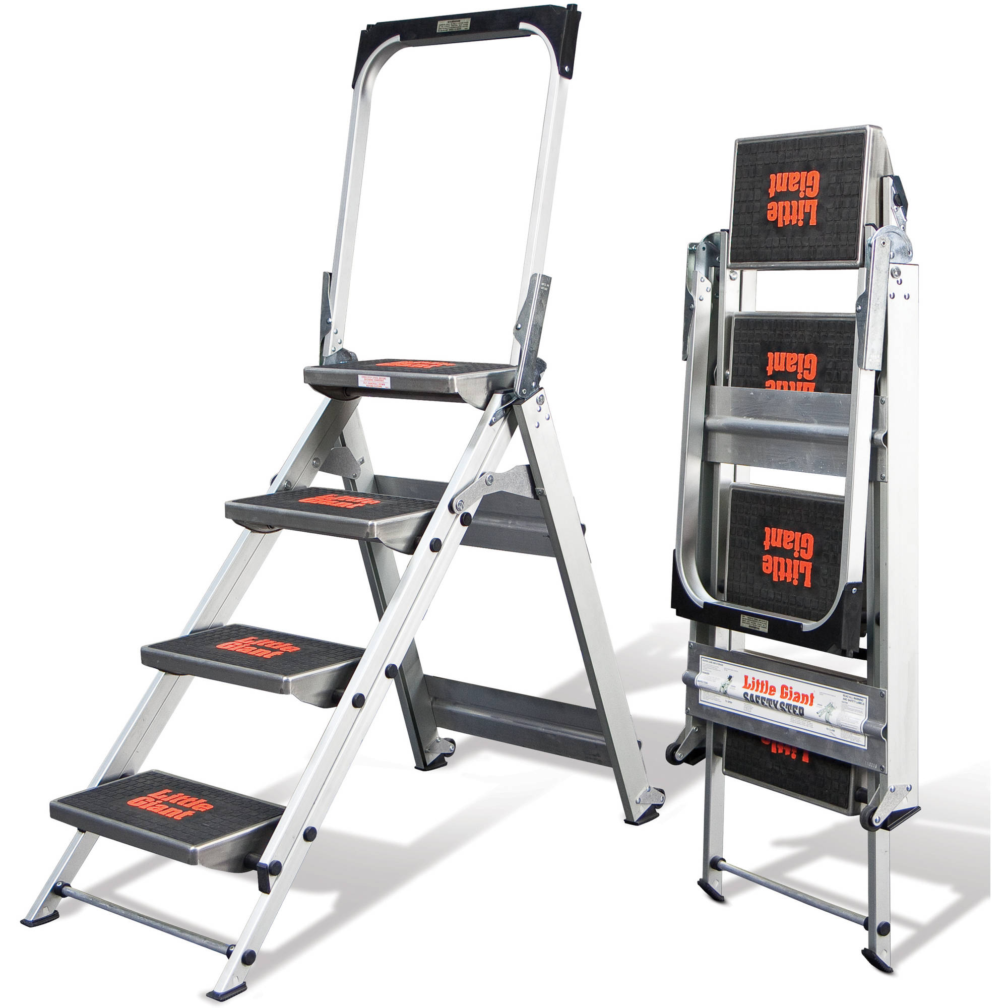 Little Giant Safety Step, Model 4 step, 300 lbs capacity rated, aluminum stepstool
