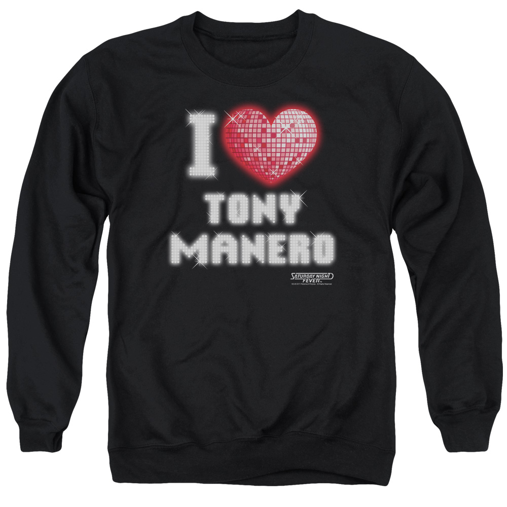 Saturday Night Fever I Heart Tony Mens Crewneck Sweatshirt