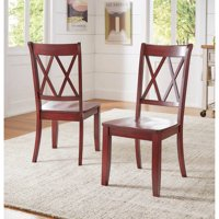 Weston Home Farmhouse Dining Chair with Cross Back (Set of 2)