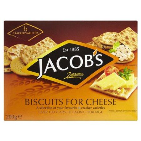 Jacobs Biscuits For Cheese 200g by Jacob's (Cheese And Crackers For Halloween Party)
