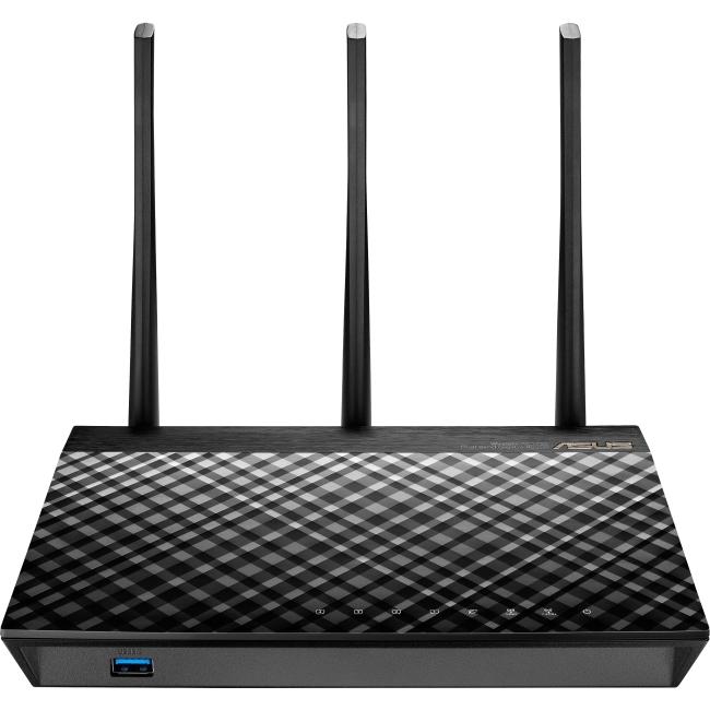 ASUS Dual-Band 3 x 3 AC1750 Wi-Fi 4-Port Gigabit Router (RT-AC66U_B1) by ASUS