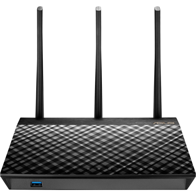 ASUS Dual-Band 3 x 3 AC1750 Wi-Fi 4-Port Gigabit Router (RT-AC66U_B1)