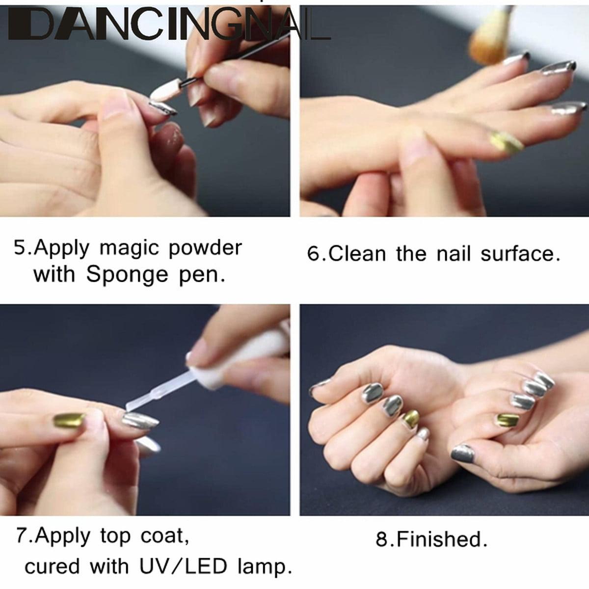 5g Silver Mirror Effect Powder Metallic Nail Glitter Shining Dust ...